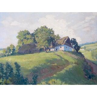 Jan Honsa Vintage Early 20th Century Czech Republic Landscape Signed Original Oil Preview
