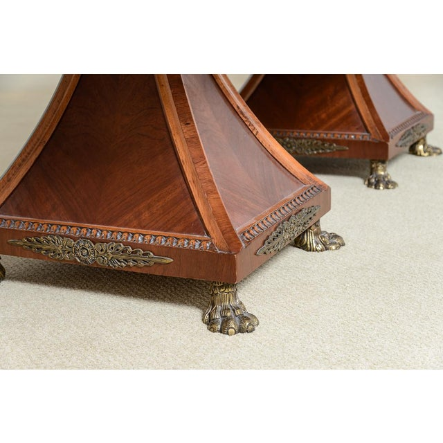 Bronze Regency Style Granite Top Oversize Library Table With Bronze Claw Feet For Sale - Image 7 of 12