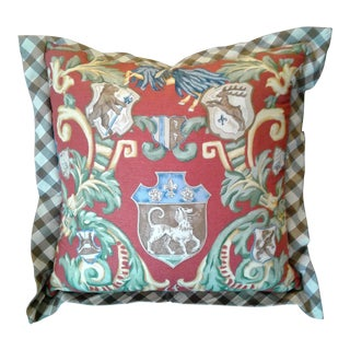Red & Green Crest Pillow