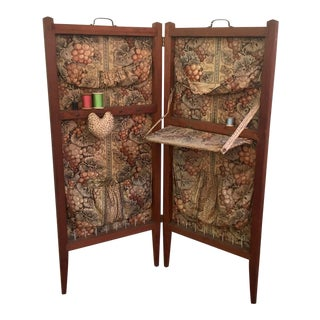 Antique Folding Sewing Cabinet