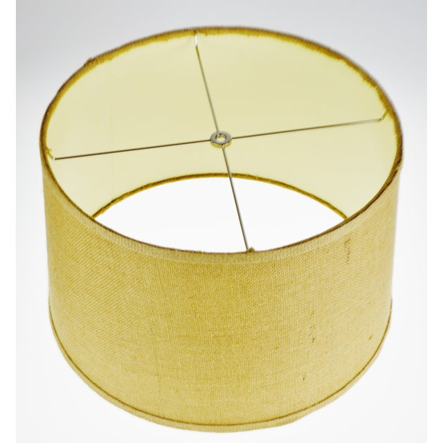 Vintage Grass Cloth Drum lampshade For Sale - Image 4 of 13