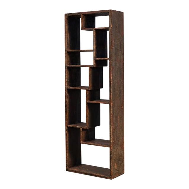Brown Sarreid Wagoner Bookshelf For Sale - Image 8 of 10