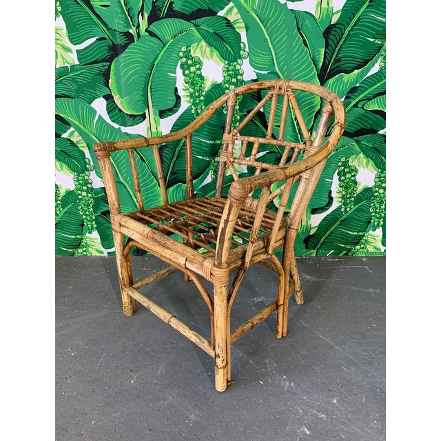 Brighton Pavilion Brighton Style Pavilion Rattan Dining Chairs - Set of 6 For Sale - Image 4 of 9