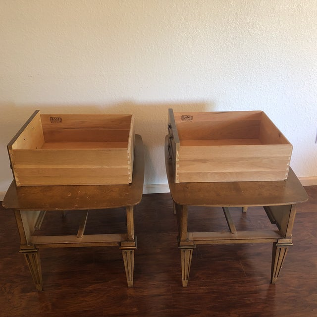 Lane Mid-Century Modern Side Tables - A Pair For Sale - Image 10 of 13