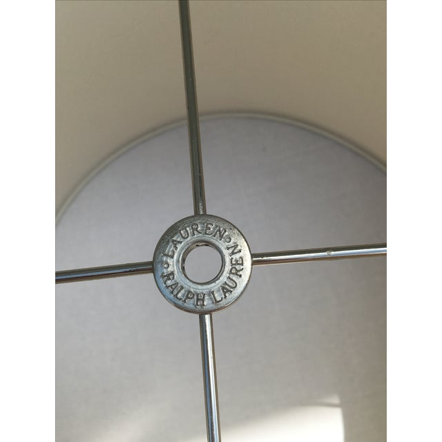 Ralph Lauren Home Chrome & Leather Accent Lamp - Image 6 of 7