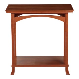 American Studio Handmade Cherry End Table by Newport Design Studio c. 1998 For Sale