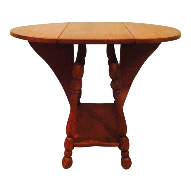 Antique Gate Leg Side Table - Image 1 of 8