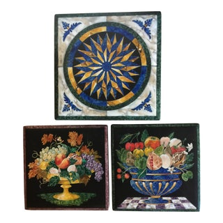 Italian Hand Painted BaRo Laquer Boxes - Set of 3