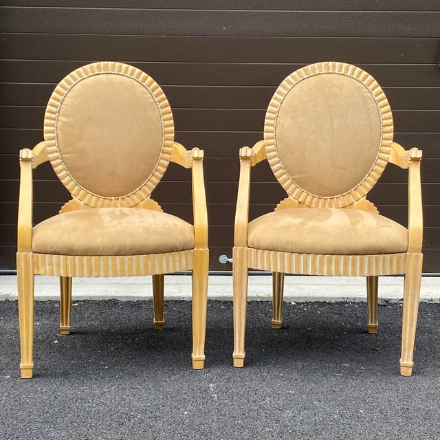 Modern 1980s John Hutton for Donghia Style Soleil Armchair - a Pair For Sale - Image 3 of 13