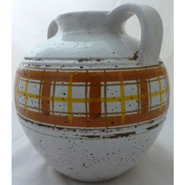 Mid-Century Modern Italian Art Pottery Vase For Sale - Image 9 of 11