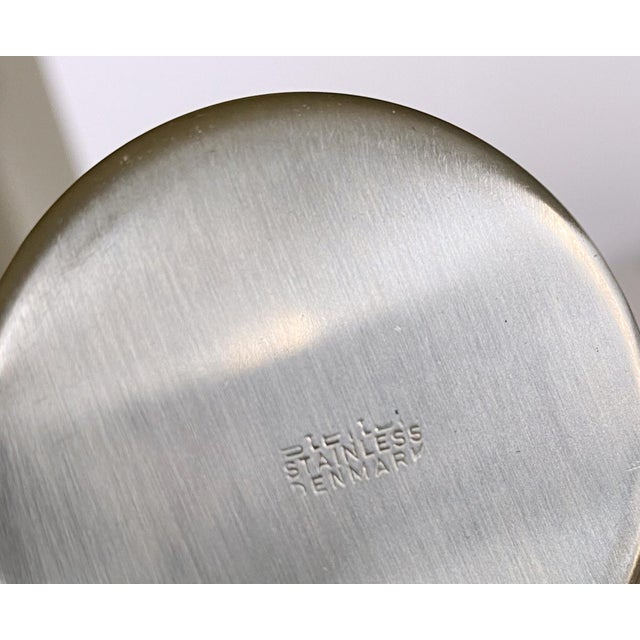 Metal 1967 Arne Jacobsen Cylinda Line for Stelton of Denmark Coffee and Tea Set - 4 Pieces For Sale - Image 7 of 9