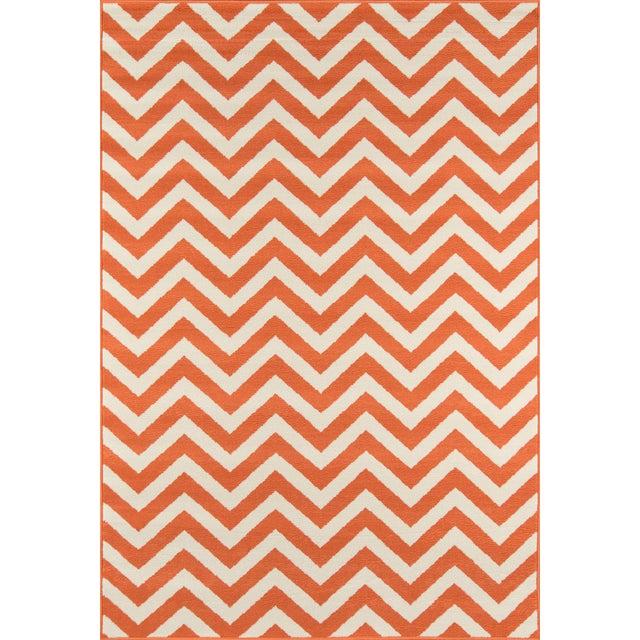 """Momeni Baja Orange Indoor/Outdoor Rug - 6'7"""" X 9'6"""" For Sale"""