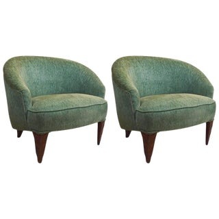 Fine Pair of Wormley for Dunbar Janus Chairs For Sale
