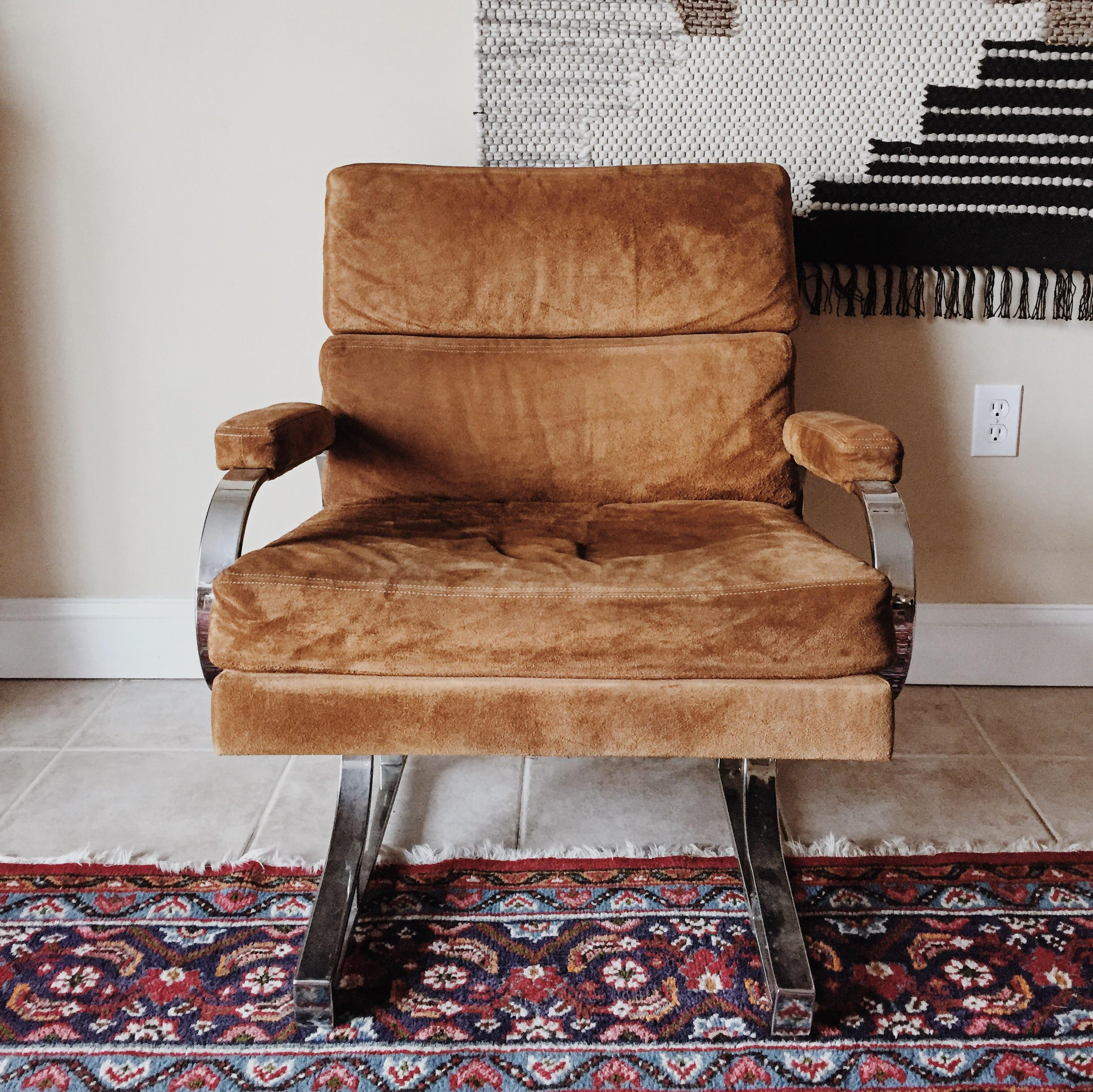 Chrome Patrician Furniture Co Chrome Lounge Chair For Sale   Image 7 Of 7
