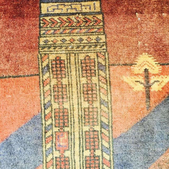 """Vintage Ferdos Persian Rug - 3' x 3'10"""" - Image 5 of 9"""