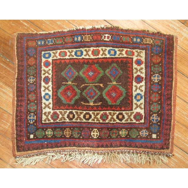 Tribal Small Rug, 1'1'' x 1'6'' For Sale - Image 4 of 4