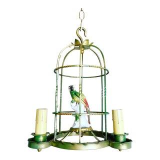 Vintage Parrot Birdcage Chandelier For Sale
