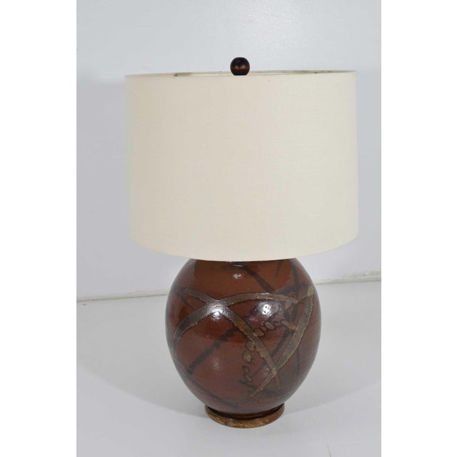 Ceramic Brent Bennett Ceramic Glaze Table Lamps - a Pair For Sale - Image 7 of 11