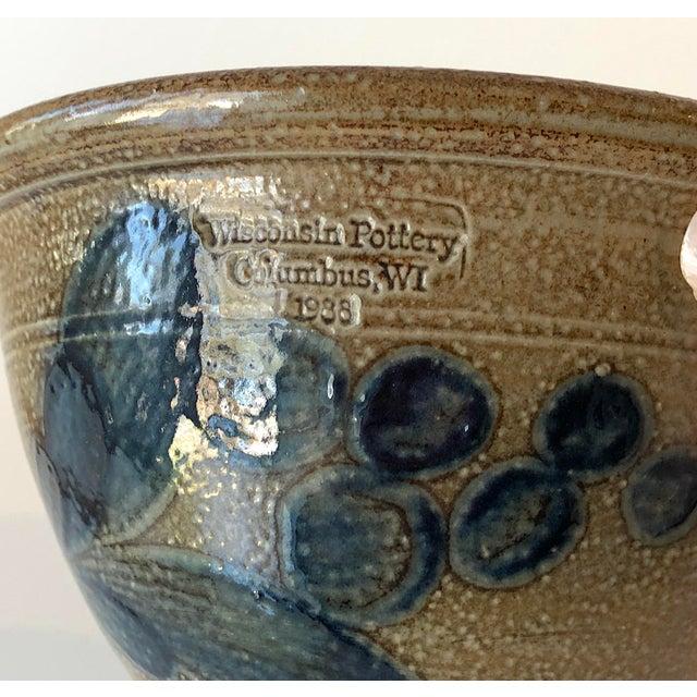 Ceramic Salt Glazed Berry Bowl - Vintage Farmhouse For Sale - Image 7 of 13