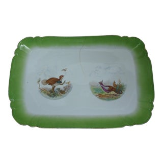 Antique Austrian Game Bird Serving Platter For Sale