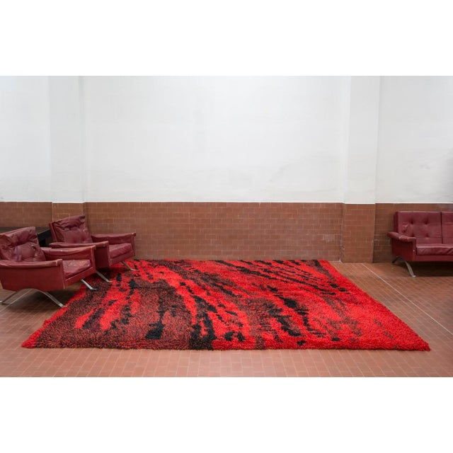 "Huge ""Orfeo"" carpet designed and produced by Renata Bonfanti in 1961. Hand-knotted wool piece in marvelous conditions,..."