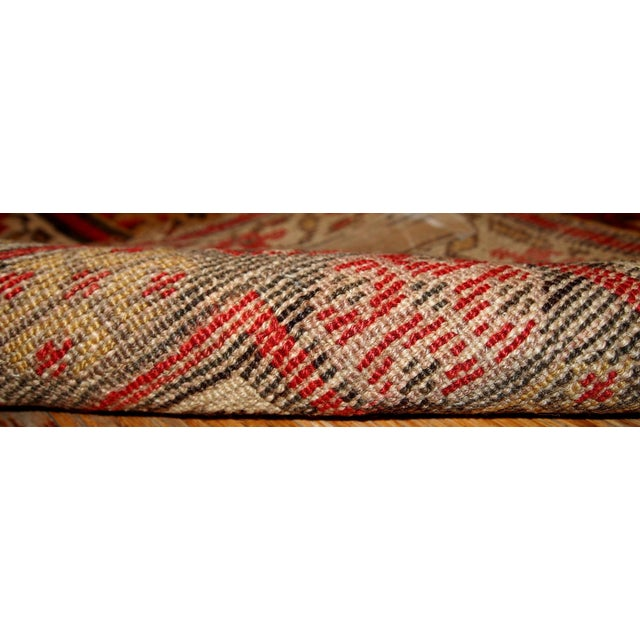 1880s Hand Made Antique Persian Kurdish Rug - 4′1″ × 7′8″ - Image 5 of 6