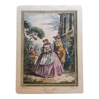 Francois Boucher 18th Century Engraving Print
