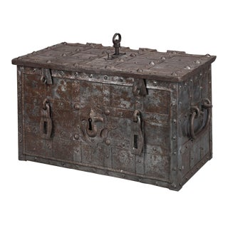 17th-Century German Strongbox For Sale