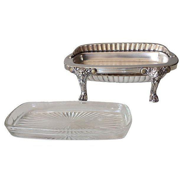 Wm. Rogers Silver Plate Platform Claw Footed Domed Butter Dish -2 Pieces For Sale - Image 9 of 13