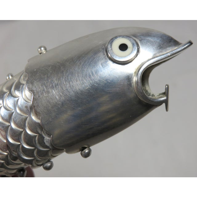 Emillia Castillo Mexico Silverplate Articulated Fish Bottle Opener For Sale - Image 9 of 13