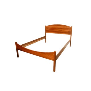 Mid-Century Danish Modern Cherry Full Size Bed For Sale