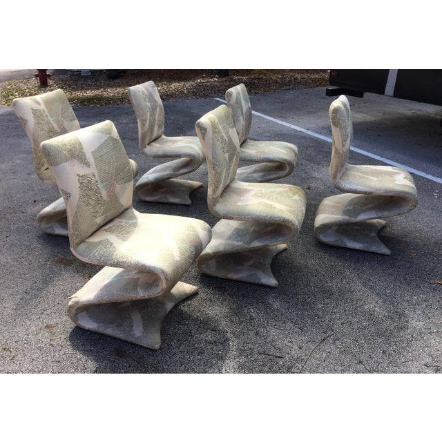 Panton Style Modern Contemporary Z/ Zig Zag Dining Chairs- Set of 6 - Image 2 of 9