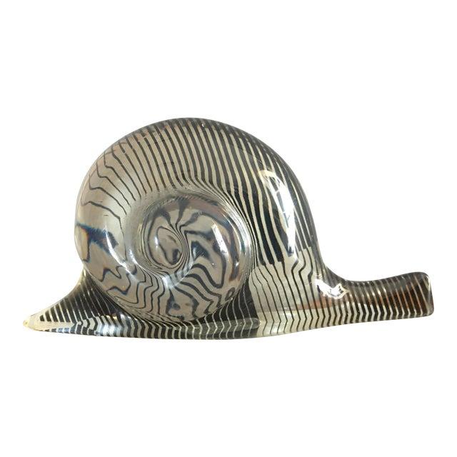 Abraham Palatnik Mid-Century Lucite Snail - Image 1 of 5