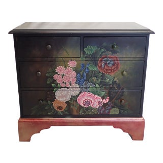 Lexington Floral Painted Dresser For Sale