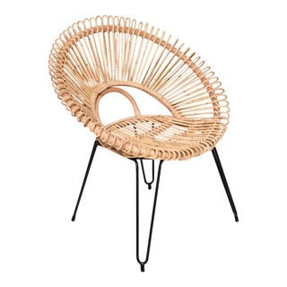 Boho Chic Round Orbit Lounge Chair For Sale