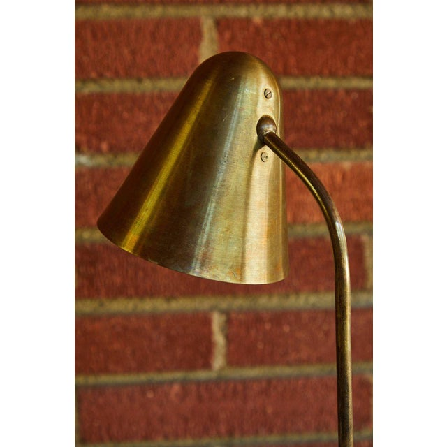 1950s Mid-Century Modern Brass Table Lamp For Sale - Image 10 of 12