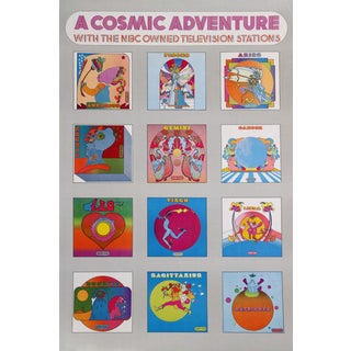 "1970 Peter Max ""A Cosmic Adventure"" Poster For Sale"