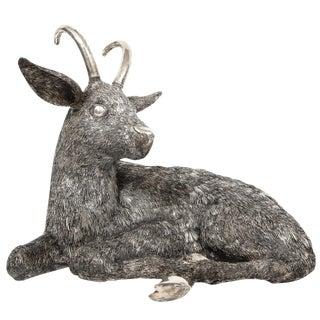 Mario Buccellati, a Rare and Exceptional Italian Silver Goat For Sale