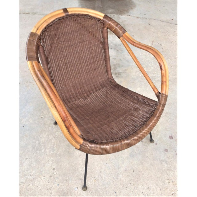 Mid-Century Rattan Chair - Image 6 of 6