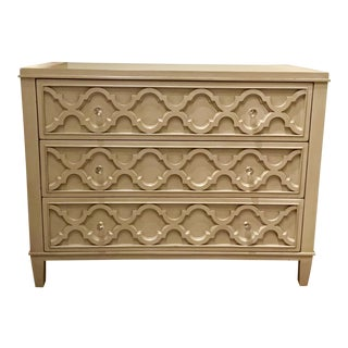 Drexel Heritage Gray Geometric Olivia Chest For Sale
