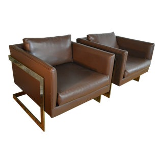 Milo Baughman for Thayer Coggin T-Back Cube Chairs For Sale