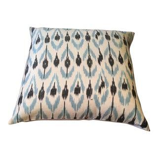 Blue & Black Ikat Pillow