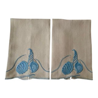 Vintage Madeira Hand Towels - a Pair For Sale