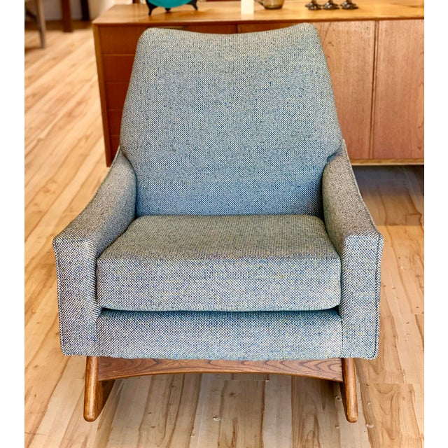 Mid-Century Modern Vintage Mid-Century Adrian Pearsall for Craft Associates Rocking Chair For Sale - Image 3 of 11