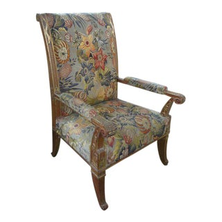 19th Century Antique French Louis XVI Style Gilt Wood Chair For Sale