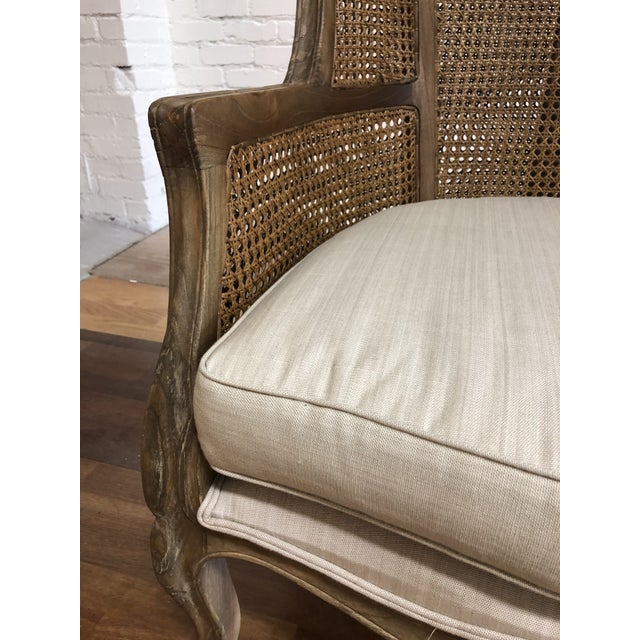 Porters Style Balloon Caned Chair For Sale In San Francisco - Image 6 of 13