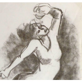 Charcoal Drawing - the Dancer Preview