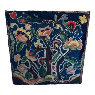 Early 20th Century Antique Hooked Rug - 2′12″ × 2′12″ For Sale
