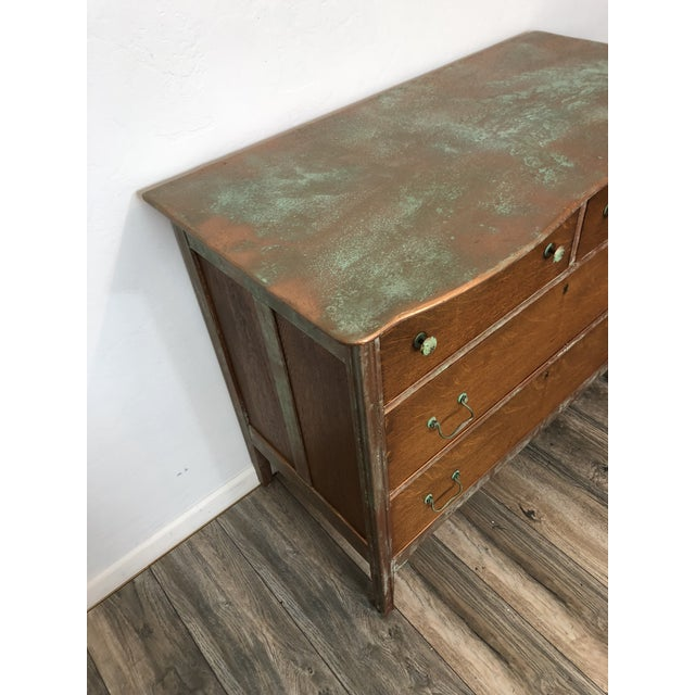 Vintage Tiger Wood Chest of Drawers - Image 5 of 8
