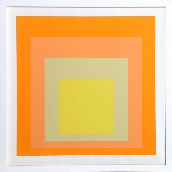 "Josef Albers ""Interaction of Color: Homage to the Square"" Screen Print - Image 2 of 2"